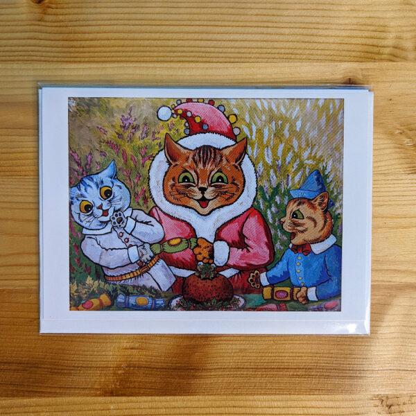 Louis Wain Christmas Card - Individual
