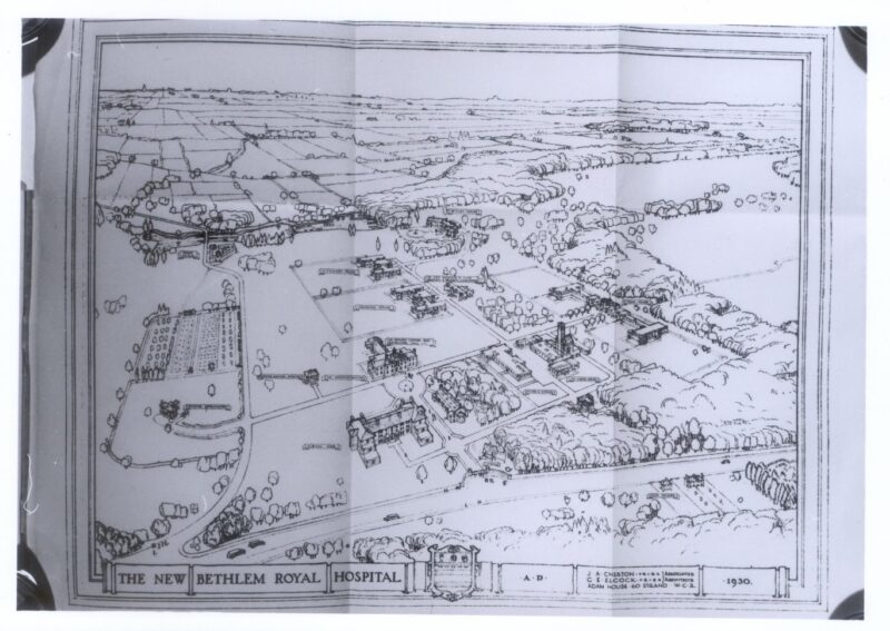Aerial Site Drawing 1930 1