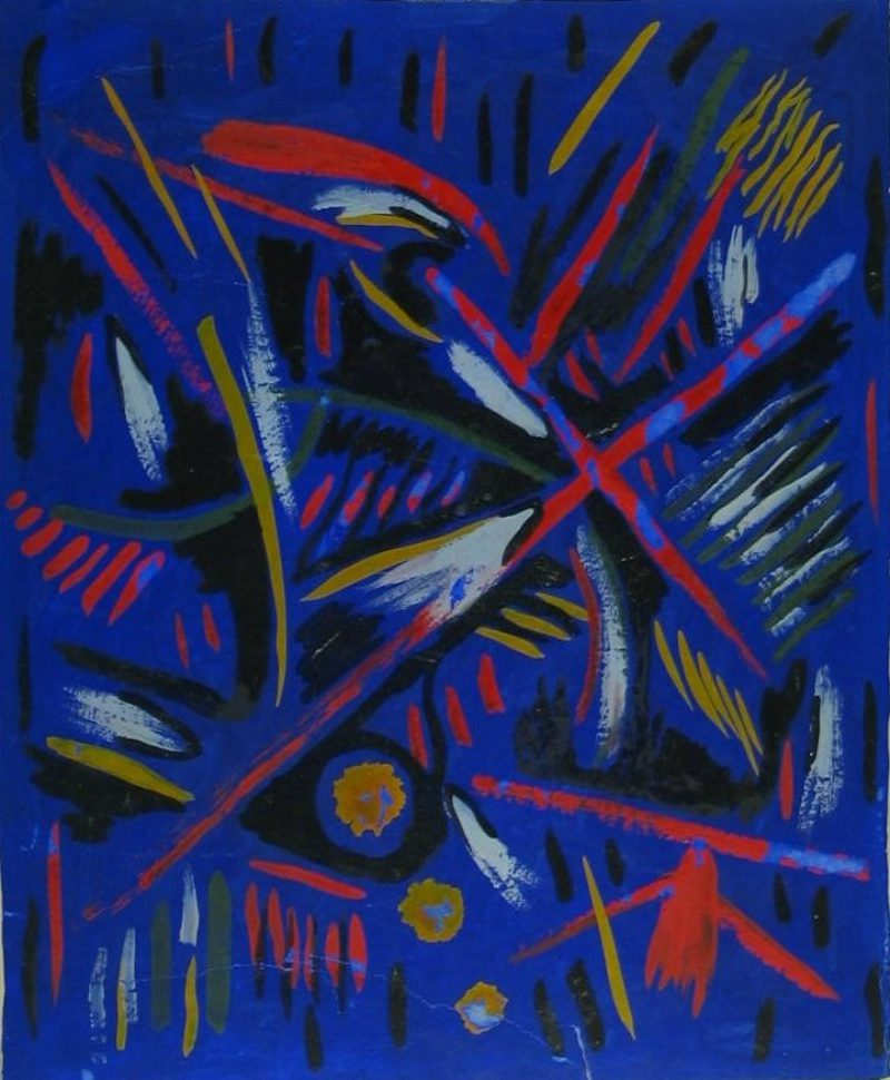 Ldbth191 Mescaline Painting Blueand Red Abtractc1938B2 Zps10E78Ab3
