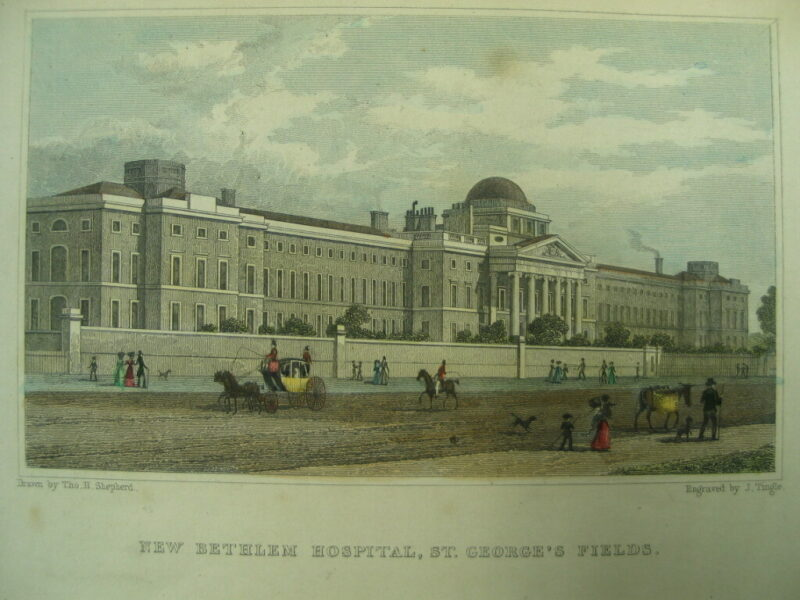 LDBTH2 17 44 New Bethlem Hospital St Georges Fields c 1830 a