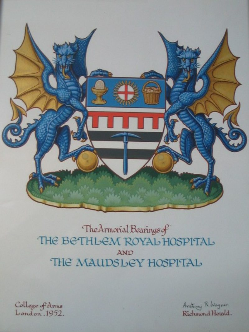 Ldbth2 19  9  The  Amorial  Bearings Of  The  Bethlem  Royal  Hospital And  The  Maudsley  Hospital (1952) B