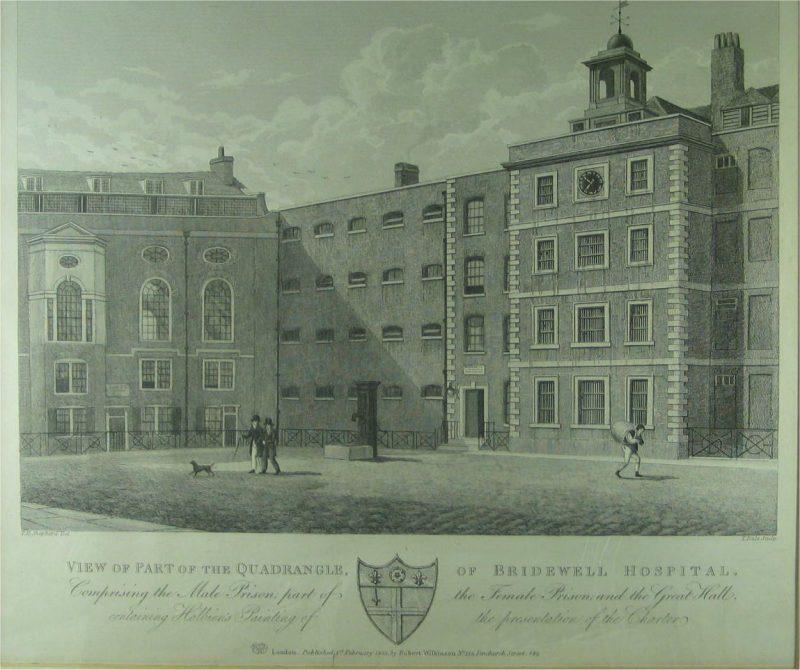 LDBTH3 44 Quadrangle of Bridewell Hospital 1822 a