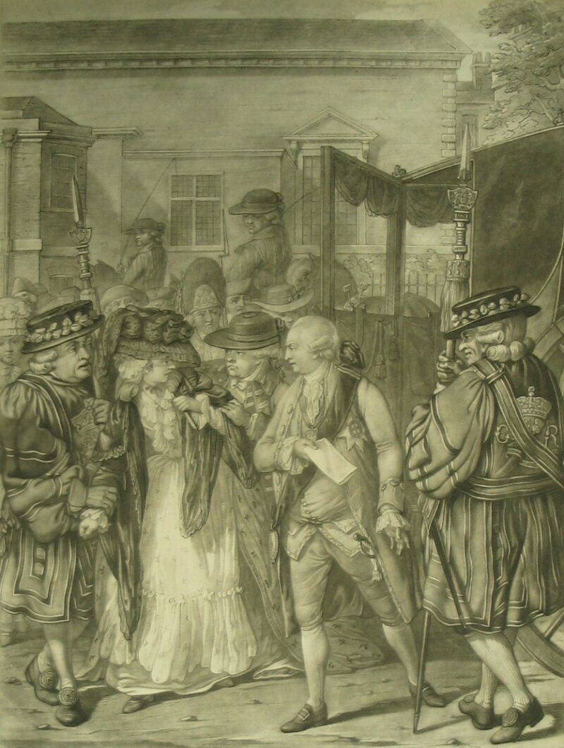 LDBTH8 138 Margaret Nicholson attempting to Assassinate His Majesty King George III 1786 c