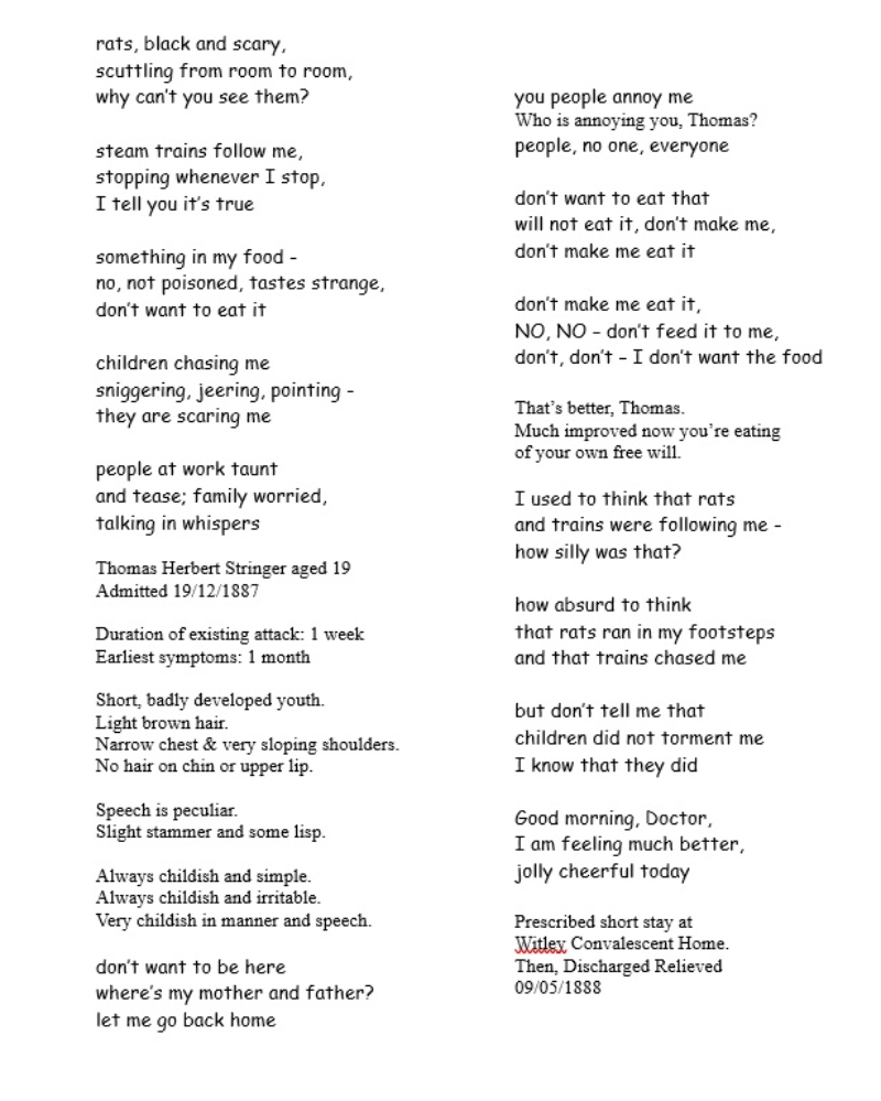 Thomas Stringer poem