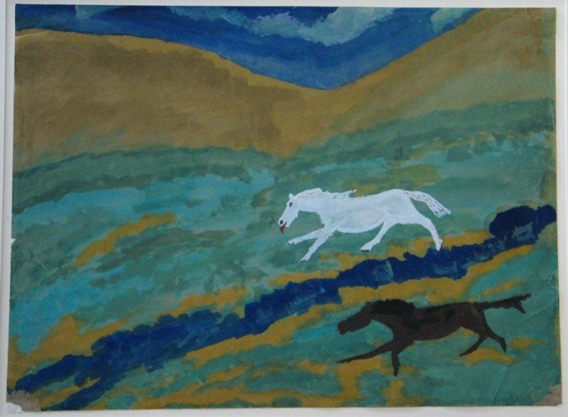 Ldbth282 Two Horses C 1954 A