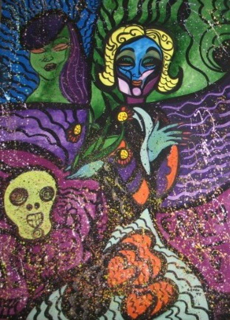 Lench Ldbth256 Marlene Dietrichwith Skull1975B