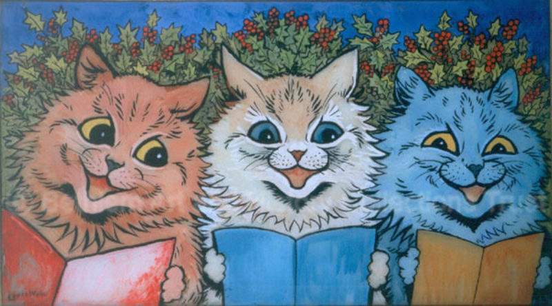 Louiswain Carol Singing Cats