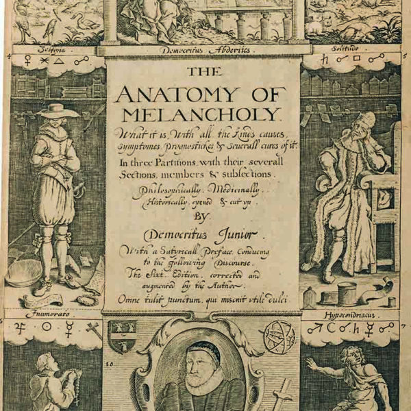 A Self-Help Book? Writing and Reading The Anatomy of Melancholy