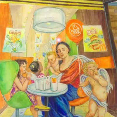 The McDonna artwork by Stephanie J. Bates