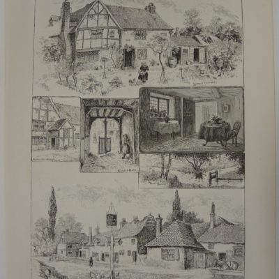 Sketches at Chalfont St. Giles, Buckinghamshire, with Milton's Cottage artwork by Louis Wain