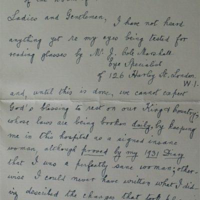 LDBTH:694 - Letter