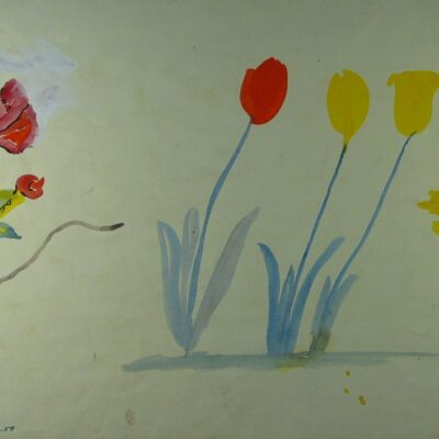 LDBTH:313v - Tulips