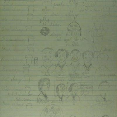 LDBTH:328r - Faces, Chimneys, etc.