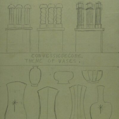 LDBTH:334r - Chimneys and Vases