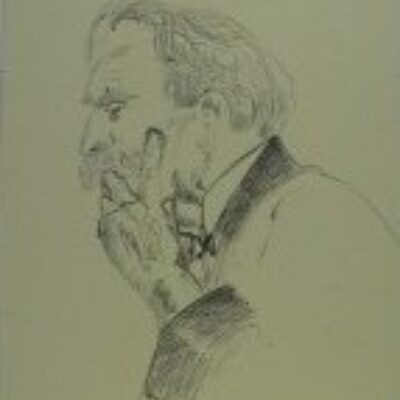 LDBTH:12 - Sketch of Albert Schweitzer I