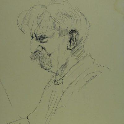 LDBTH:13 - Sketch of Albert Schweitzer II