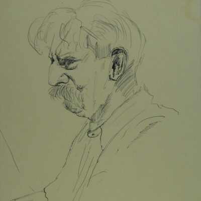 LDBTH:13 - Sketch of Albert Schweitzer II