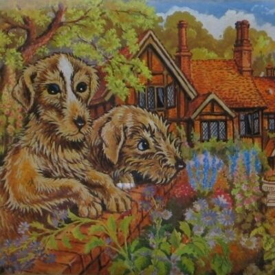LDBTH:164 - The Shepherds Sheep Dogs Look After the Orchard