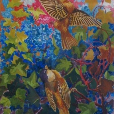 LDBTH:172 - Sparrows, Ivy and Flowers