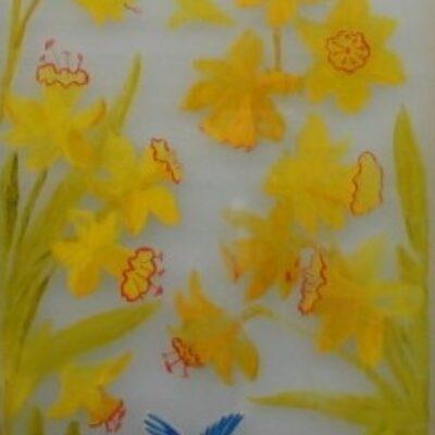 LDBTH:211 - Daffodils and Blue Tits