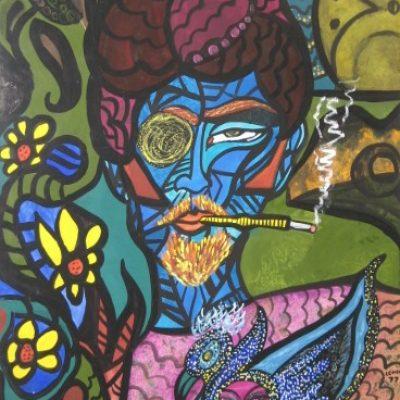 LDBTH:239 - Blue Man with Duck