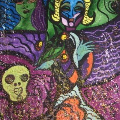 LDBTH:256 - Marlene Dietrich with Skull