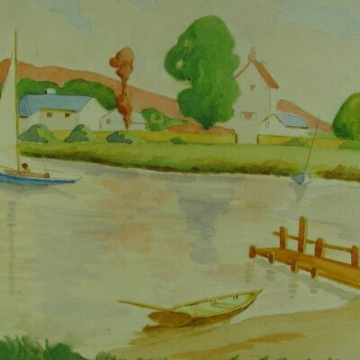 Yachting Scene artwork by Lesley James