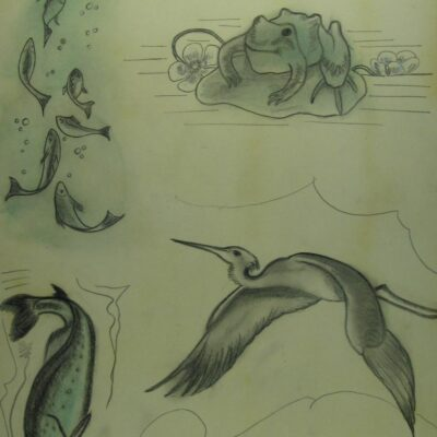 LDBTH:277 - Fish, Frog and Heron (After Recovery)
