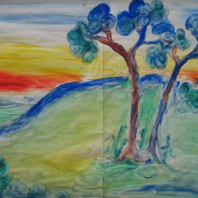 LDBTH:323 - Trees against a Sunset