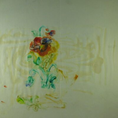 Flower and Blobs artwork by Miss Lilian Drage
