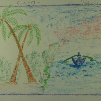 LDBTH:379 - Palm Trees and Boat