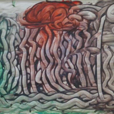 LDBTH:399 - Brown, Green and Red Squiggles