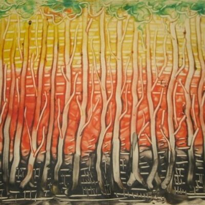 LDBTH:403 - Trees Against Striped Background