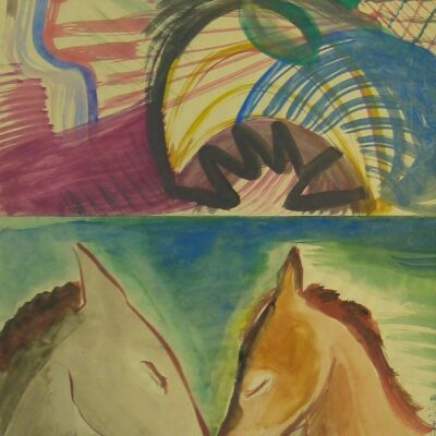 LDBTH:444 - Abstract and Two Horses