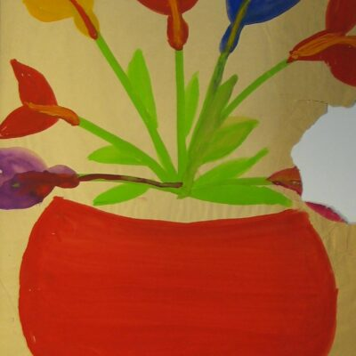 LDBTH:445 - Flowers in Red Pot