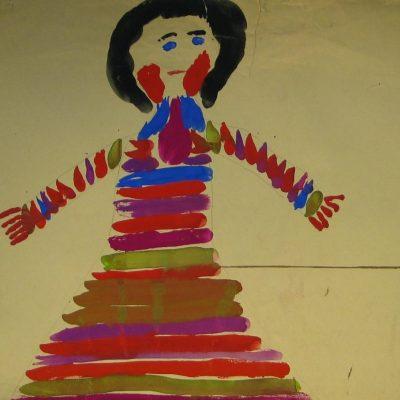 LDBTH:446 - Girl in Striped Dress