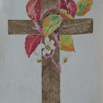 LDBTH:452 - Cross Decorated with Flowers