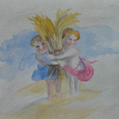 LDBTH:463 - Children with Wheatsheaf