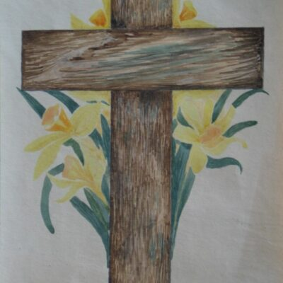LDBTH:469 - Cross with Daffodils
