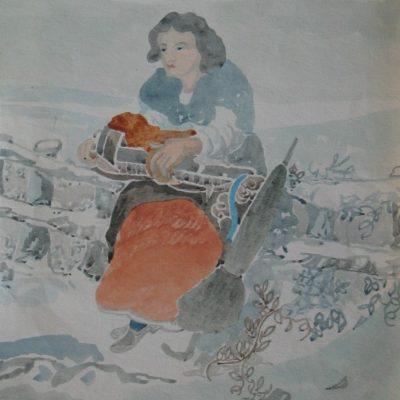 LDBTH:470 - Woman by Roadside