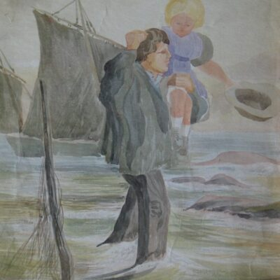 LDBTH:471 - Man and Child in Sea