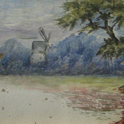 Windmill amid Trees