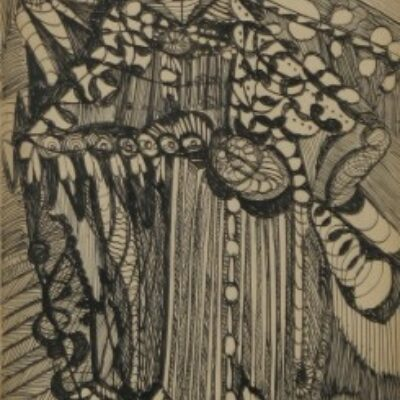 LDBTH:740 - Woman in Elaborate Clothes and Bonnet