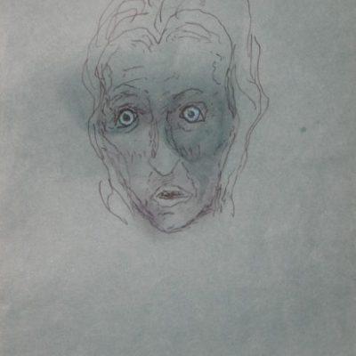 LDBTH:786 - Head with Pale Blue Eyes