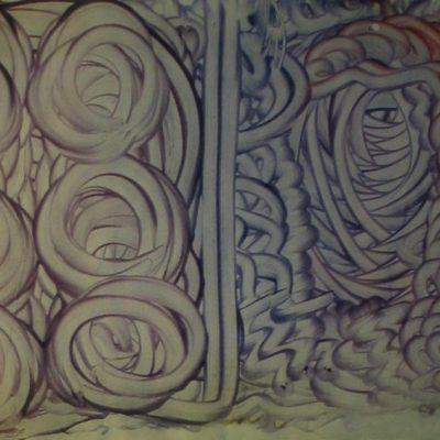 LDBTH:82 - Mescaline Painting - Purple Finger-Painting