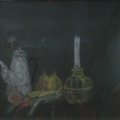 LDBTH:83 - Lamp, Coffee Pot and Fruit
