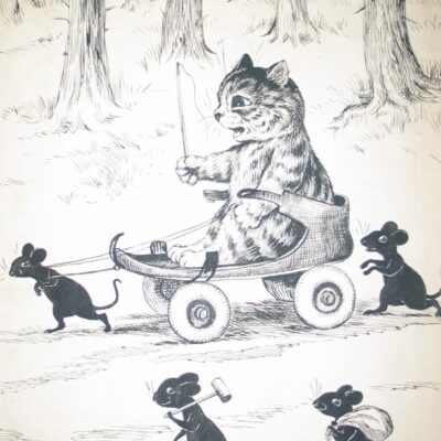LDBTH:878 - Cat with Mouse and Carriage