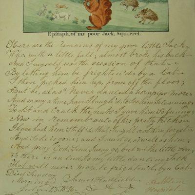 LDBTH:879 - Epitaph, of My Poor Jack, Squirrel I
