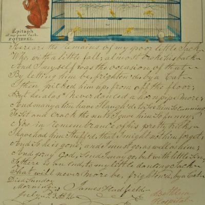 LDBTH:880 - Epitaph, of My Poor Jack, Squirrel II