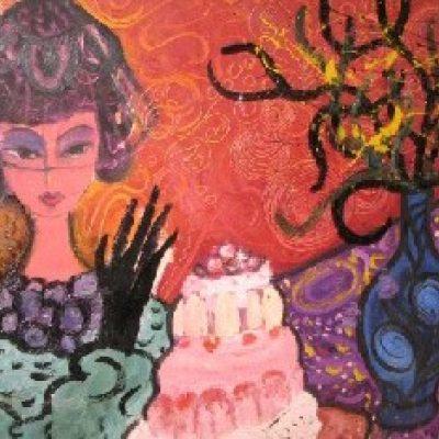 LDBTH:887 - Woman with Cake